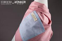 Pink Dots Vichy Civic Dog® scarf, square pocket. http://civicdog.com/product/tuli-pañuelo-civic-dog-dots-rosa