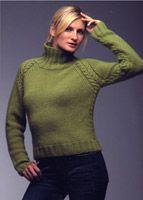 KK270C Raglan w/ Cables Yarn Store, Swatch, Knit Crochet, Knitwear, Knitting Patterns, Turtle Neck, Sweaters, Ravelry, Design