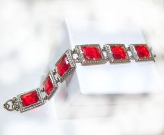 """Red for your wrist - from the Ruby Lane shop """"Jewels And All That Jazz Vintage Jewelry"""""""