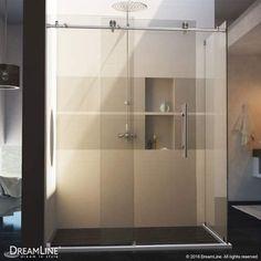 DreamLine Enigma-X 34 1/2″ by 48 3/8″ Fully Frameless Sliding Shower Enclosure   Steam Shower - Bathroom Showers- Infrared Sauna - from SteamShowerDealer.com