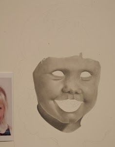 Current commissioned portrait I am working on, this is what I call the jack-o-lantern stage!  Probably around 6 hours so far.