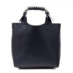 bolsa de couro sintético alça ajustável