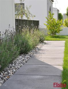 I like the stones under the lavender for along the 3 levels on our terraced garden. Inspiration - Gångar