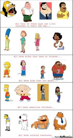 Simpsons & Family Guy & American Dad & The Cleveland Show! xD