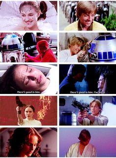 Similarities between Padme and Luke Skywalker. (Star Wars)