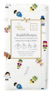 SwaddleDesigns Disney It's a Small World Hello Marquisette Swaddling Blanket, Children of the World Sterling