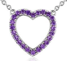 Blue Nile Amethyst Heart Pendant in Sterling Silver - Polyvore