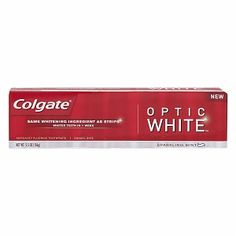 Colgate Optic White Anticavity Fluoride Toothpaste $4.59 Hands down the best I've tried...and as a smoker who doesn't want her teeth to look like one...I've tried them all. This is the Shtuff!