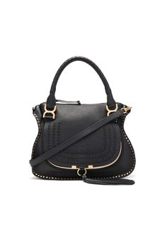 Image 1 of Chloe Medium Braided Leather Marci Bag in Black