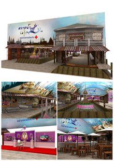 Tile : ตลาดน้ำดอกแก้ว ในงานกาชาด ประจำปี2558 Design :แนวคิดของตลาดโบราณบางพลี ภายในมีนิทรรศการสมเด็จพระเทพ และนิทรรศการตลาดโบราณบางพลี รวมไปถึงร้านค้า Client : กระทรวงมหาดไทย