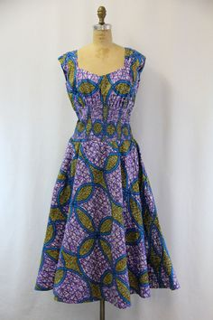 PLUS SIZE Vintage Batik Dress XXL by SIZEisJUSTaNUMBER on Etsy, $94.00