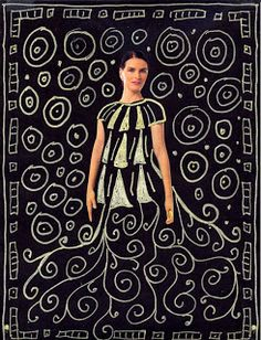 Gustav Klimt Drawings. I'd like to try this with my 2nd graders using photos of themselves rather than magazine images.