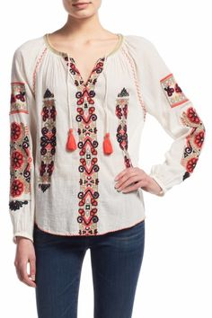 Inabu Embroidered Cotton Gauze Top  | Calypso St. Barth