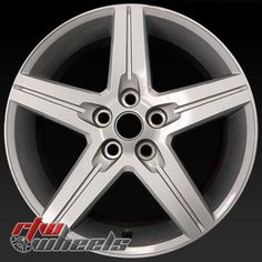 """Chevy Camaro wheels for sale 2010-2012. 18"""" Silver rims 5439 - http://www.rtwwheels.com/store/shop/18-chevy-camaro-wheels-for-sale-silver-5439/"""