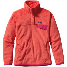Patagonia Women's Re-Tool Snap-T® Fleece Pullover ($59) ❤ liked on Polyvore featuring tops, jackets, patagonia and outerwear