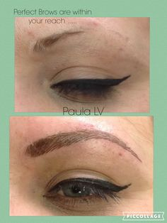 Another great example of the difference semi permanent make up can make.