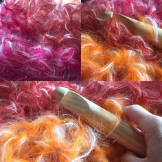 feel like I'm crocheting bubbles this morning  I have a large airy mohair wrap / scarf on my hook and it feels like I'm working on a cloud  #northwestfibreartstrail #mohair #crochet #extremecrochet #crochetersofinstagram #wrap #scarf #ethicalfashion #sunset #pink #orange #yellow #red #yarn #stash by little_lancashire_smallholding