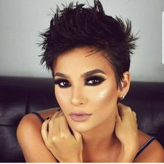 """8,881 Likes, 50 Comments - ShortHair DontCare  PixieCut (@nothingbutpixies) on Instagram: """"Just stunning her make up as well as that styke @laisdelagnese_ . What caught your eye first?? ⠀⠀…"""""""