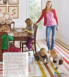 24 Painted Floors to Inspire http://www.pinterest.com/happyhealthyhip/ #happyhealthyhip