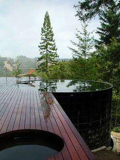 Hot tub outside & view