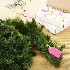 Label Your Christmas Decorations - Marking items is a great way to help distinguish similar accessories when you pull them out from year to year. Do you have specially cut artificial garlands to fit a stair railing, mantel, and sideboard? Hang a labeled tag from each section for easy identification or store them separately in clearly marked bags.