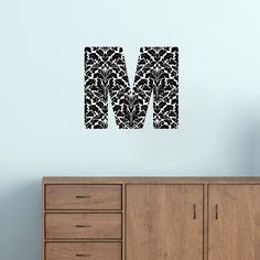 Printed Pattern Block Monogram - Wall Decal - Sweetums Wall Decals