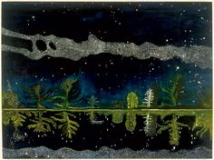 Milky Way, 1990 by Peter Doig. Magic Realism. landscape