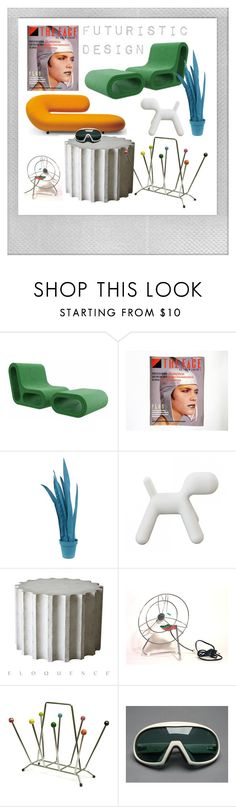 """Futuristic Design"" by feelingofdejavu ❤ liked on Polyvore featuring interior, interiors, interior design, home, home decor, interior decorating, Polaroid, Verlaine, Wandschappen and Magis"