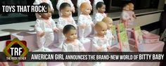 AMERICAN GIRL announces relaunch and expansion of their BITTY BABY line... #BittyBaby #AmericanGirl