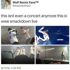 it's better than a concert with only dance and music, that's the way i love EXO so much~ Chanyeol, Sehun Oh, Kyungsoo, Funny Kpop Memes, Exo Memes, Exo Ot12, Chanbaek, Btob, K Pop