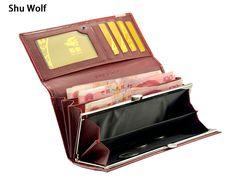 Zwarte Vrijdag Fashion Lederen Vrouwen Clutch Wallet 3 Fold Krokodil Hoofd Vrouw Portemonnee Carteras Telefoontasje