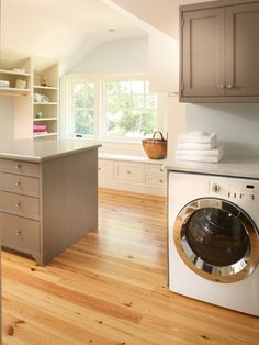 laundry room combined with closet