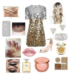 """""""Going out, #4 Gold"""" by rinabelle on Polyvore featuring Dolce&Gabbana, Verali, Urban Expressions, MICHAEL Michael Kors, Sole Society, Adina Reyter, Milani, Material Girl, Chanel and Lime Crime"""