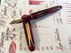 I have previously reviewed the Platinum #3776 black with a music nib , and while the nib is superb, the black and gold trim finish didn't th...