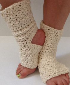 Easy Knitting Pattern For Yoga Socks : Toeless Pedicure Socks Instant Digital File pdf by ...
