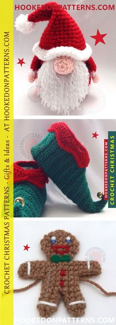 Crochet Christmas Patterns - This is a list of Christmas Crochet Patterns! Gift ideas, Christmas ornaments and free Christmas crochet patterns. Take a look!