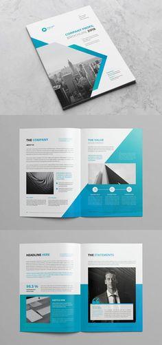 Company Profile Template INDD Company Profile Design Templates, Company Brochure Design, Brochure Design Layouts, Graphic Design Brochure, Corporate Brochure Design, Booklet Design, Creative Brochure, Design Presentation, Presentation Folder