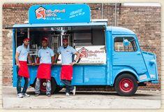 Foodtruck Shawarmashack. Citroën HY de Shawarma (sandwich fourré de viande grillée à la broche), commerçants de rue Libanais.