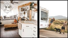 Couple Renovates RV as a Nomadic Tiny Home (& it's Gorg)! - YouTube