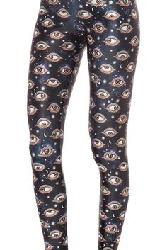 Eye See You Leggings (WW 48HR $75AUD / US - LIMITED $70USD) by Black Milk Clothing