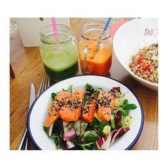 Mmmmmm!!! @thirtyeightdegreesnorth @passioncafe #ibiza #health #retreat #salmon #sushimi #juice
