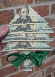Dollar Bill Christmas Tree.