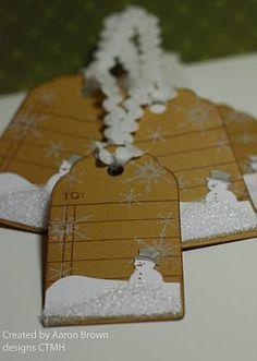 Little Snowman Tags Noel Christmas, Christmas Gift Tags, Christmas Wrapping, Xmas Cards, Christmas Projects, All Things Christmas, Handmade Christmas, Holiday Cards, Christmas Decor
