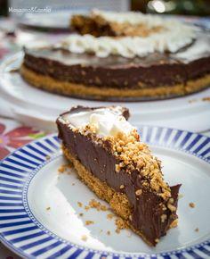Tarta de chocolate (sin horno). Chocolate pie (no bake)