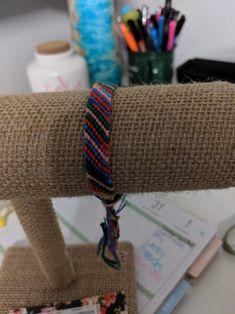 Rainbow rows pattern friendship bracelet by JolieTreasure on Etsy