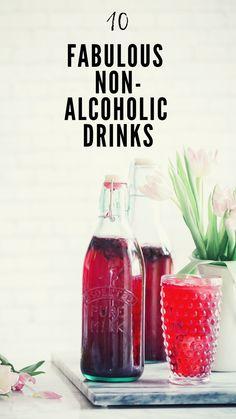 10 Fabulous Non-Alcoholic Drinks Cucumber Collins, Basil Soda, Lavender Lemonade, Tasty Kitchen, Pink Grapefruit, Non Alcoholic Drinks, Beautiful Mess, Bloody Mary, Hot Sauce Bottles