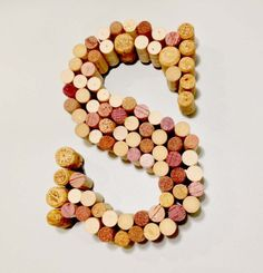 Wine Cork Letter. Another reason to drink wine! You can keep the corks whole or cut them in half.