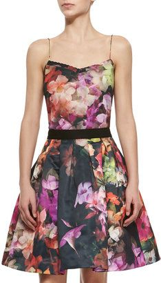 Ted Baker London Cascading Floral Sweetheart-Neck Camisole