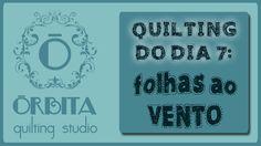 Quilting do Dia # 7 : folhas ao vento (Quilting Design 7 - autumn) - OQS