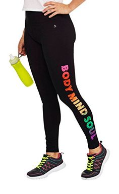 c0a48e0ce6a42 Danskin Now Womens Fitspiration Active Graphic Legging X-Small at Amazon  Women's Clothing store: